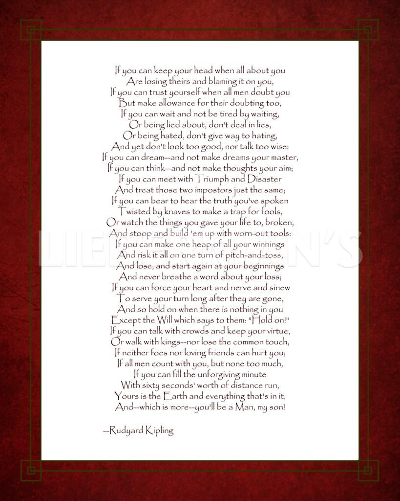 rudyard kipling poetry essay