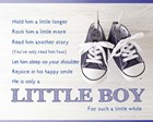 Little Boy Poem by Color Me Happy art print