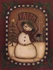 Faith Snowman by Kim Lewis art print