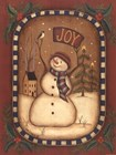 Joy Snowman by Kim Lewis art print