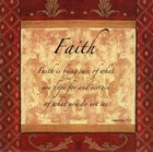 Words to Live By, Traditional - FAITH by Debbie DeWitt art print