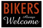 Bikers Always Welcome by Kenneth Ridgeway art print