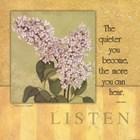 Listen - Lilac by Stephanie Marrott art print