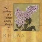 Relax - Lilac by Stephanie Marrott art print