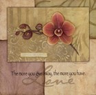 Love - Orchid by Stephanie Marrott art print
