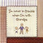 I'm Never in Trouble.. by Karen Tribett art print