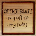 Office Rules by Karen Tribett art print