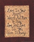 Give It Away by Vicki Huffman art print