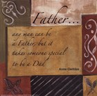 Words to Live By - Father by Debbie DeWitt art print