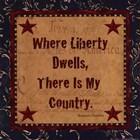 Where Liberty Dwells by Jo Moulton art print