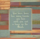 Beaches Quotes III by Grace Pullen art print