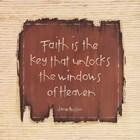 Faith Is The Key by Karen Tribett art print