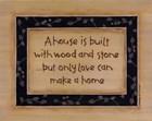 A House Is Built by Karen Tribett art print