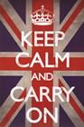 Keep Calm & Carry On - Union Jack art print