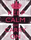 Keep Calm And Carry On 3 by Louise Carey art print