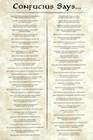 Confucius Says art print