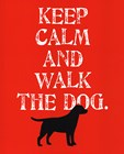 Keep Calm (Labrador) by Ginger Oliphant art print