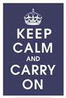 Keep Calm (navy) art print