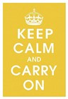 Keep Calm (mustard) art print
