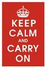 Keep Calm (Red) art print