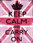 Keep Calm And Carry On 2 by Louise Carey art print