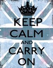Keep Calm And Carry On 4 by Louise Carey art print