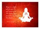 Yoga Quote art print