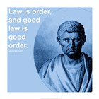 Aristotle Law Quote art print