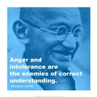 Gandhi - Intolerance Quote art print