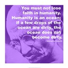 Gandhi - Ocean Quote art print