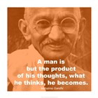 Gandhi - Thoughts Quote art print