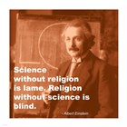 Einstein Science Religion Quote art print