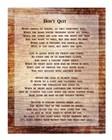 Don't Quit Poem art print