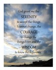 Serenity Prayer - skies art print
