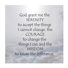 Serenity Prayer - clouds art print