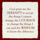 Serenity Prayer - red border art print