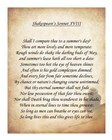 Shakespeare's Sonnet 18 art print