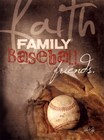 Faith Family Baseball by Marla Rae art print