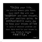 Enjoy Life, Jimmy V Quote art print