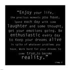 Enjoy Life, Jimmy V Quote art print
