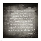 Enthusiasm Jimmy V Quote art print