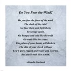 Hamlin Garland - Do you Fear the Wind quote art print