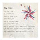 My Star by Robert Browning - square art print