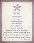 My Star by Robert Browning - color boarder art print