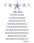 My Star by Robert Browning - white art print