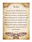 My Fairy by Lewis Carroll - tall art print