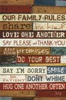 Our Family Rules I by Marla Rae art print