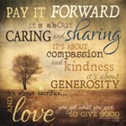 Meaning of Pay It Forward by Marla Rae art print
