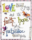 Words of Love - Never Fails by Jennifer Nilsson art print