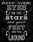 Keep Your Eyes On the Stars - black by Veruca Salt art print
